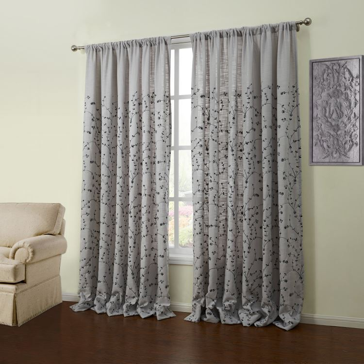 grey tab top curtains exclusive fabrics doublewide solid grey voile poly sheer 35 rote. Black Bedroom Furniture Sets. Home Design Ideas