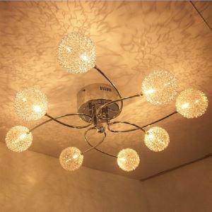 LEDシーリングライト 照明器具 リビング照明 オシャレ G4-8灯 LED対応