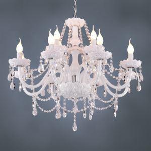 シャンデリア 照明器具 リビング照明 店舗照明 天井照明 クリスタル 豪華 オシャレ 12灯 LED電球対応
