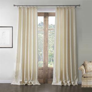 エコカーテン オーダーカーテン 地中海風 ジャガード織り アイボリー UVカット・断熱・省エネカーテン(1枚) LZ576
