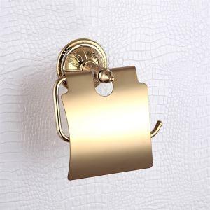 トイレットペーパーホルダー バスアクセサリー 真鍮製 金色 Ti-PVD