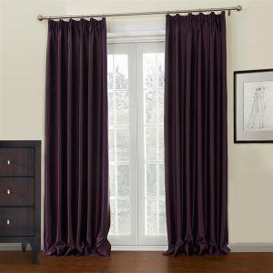 遮光カーテン オーダーカーテン 紫色 無地柄 ポリエステル 3級遮光カーテン(1枚) LZ647