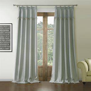 遮光カーテン オーダーカーテン プリント 灰色 無地柄 ポリエステル&綿 1級遮光カーテン(1枚) LZ560
