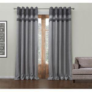 エコカーテン オーダーカーテン 灰色 無地柄 ポリエステル&綿 UVカット・断熱・省エネカーテン(1枚) LZ549