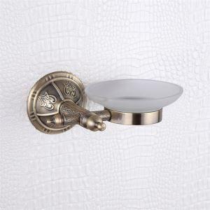 浴室ソープディッシュホルダー 石鹸ホルダー 真鍮製 ブロンズメッキ加工