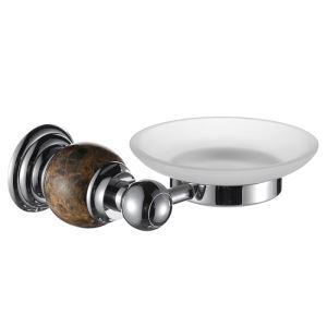 浴室ソープディッシュホルダー 石鹸ホルダー 真鍮&マーブル クロム