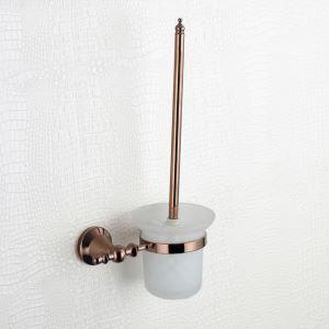 トイレブラシホルダー トイレ用品 トイレブラシ&ポット付き 真鍮製 ORB