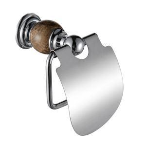 トイレットペーパーホルダー バスアクセサリー 真鍮&マーブル クロム