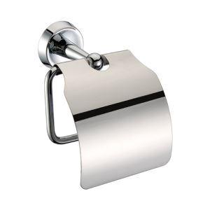 トイレットペーパーホルダー バスアクセサリー 真鍮製 クロム