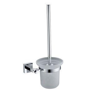 トイレブラシホルダー トイレ用品 トイレブラシ&ポット付き 真鍮製 クロム