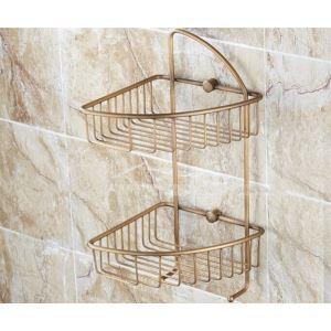 シャンプースタンド シャワーラック 浴室収納 真鍮製 ブロンズ色
