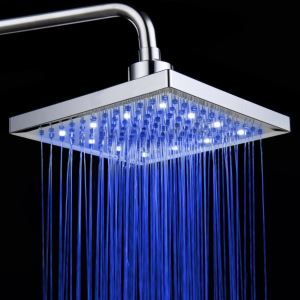 3色LEDヘッドシャワー シャワー水栓 温度センサー付 20cm
