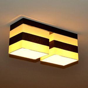 シーリングライト 玄関照明 天井照明 田舎風 織物 2灯