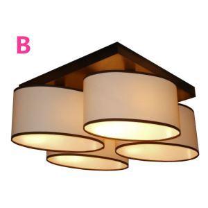 シーリングライト 天井照明 照明器具 田舎風 織物 4灯