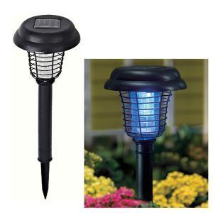 LEDソーラーライト 蚊除く 殺虫 UV灯