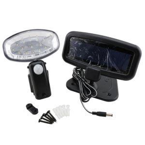 LEDソーラーライト 人感センサーライト 段階に取付 15灯