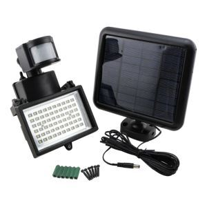 LEDソーラーライト 人感センサーライト 高輝度 段階に取付 60灯