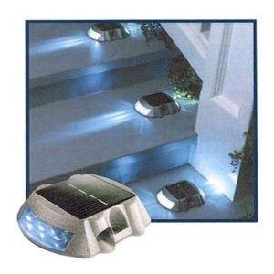 LEDソーラーライト 道路標識 埋め込み用 6灯 青色