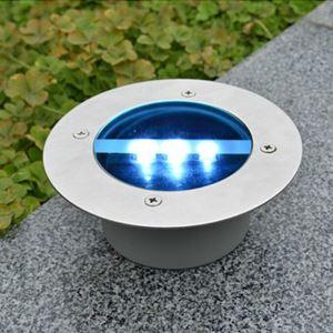LEDソーラーライト ガーデンソーラーライト 道路標識 埋め込み用 昼光色
