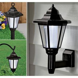 LEDソーラーライト 屋外灯 壁掛けライト 4灯