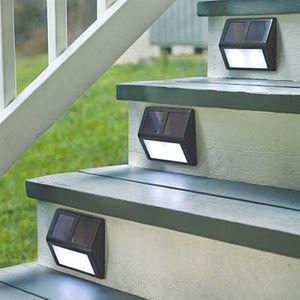 LEDソーラーライト ガーデンソーラーライト 段階に取付 2灯