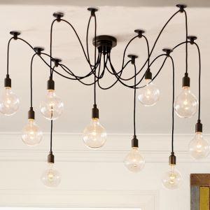 ペンタントライト 天井照明 照明器具 花火照明 電球特殊 工業Loft スパイダー型 10灯