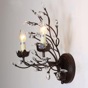 壁掛けライト ウォールランプ ブラケット 照明器具 花型 40W 2灯