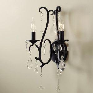 壁掛けライト ウォールランプ 照明器具 ブラケット クリスタル付 40W 2灯