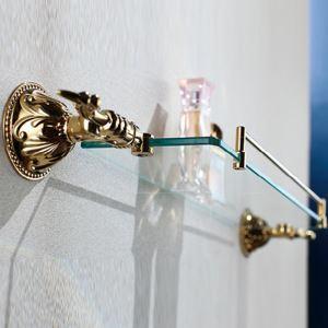 化粧棚 シェルフ ガラス棚 浴室棚 バスアクセサリー 浴室収納 Ti-PVD