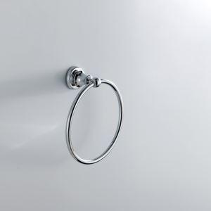 浴室タオルリング タオル掛け タオル収納 壁掛けハンガー バスアクセサリー クロム M6506