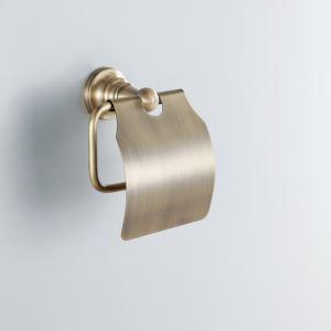 トイレットペーパーホルダー バスアクセサリー 真鍮製 ブロンズ色