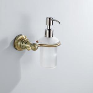 浴室ソープディスペンサーホルダー ブロンズ色 真鍮製