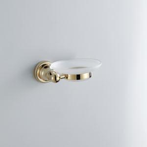 浴室ソープディッシュホルダー 石鹸ホルダー 真鍮 金色 Ti-PVD