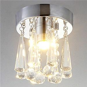 LEDミニシーリングライト 玄関照明 天井照明 クリスタル照明器具 1灯