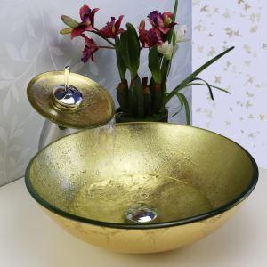 彩色上絵洗面ボウル&蛇口セット 洗面台 洗面器 手洗器 手洗い鉢 排水金具付 HT0343