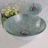 彩色上絵洗面ボウル&蛇口セット 洗面台 洗面器 手洗器 手洗い鉢 排水金具付 HT0337