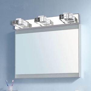 LEDミラ前用照明 壁掛けライト ウォールランプ ブラケット 方形クリスタル 9W LED対応