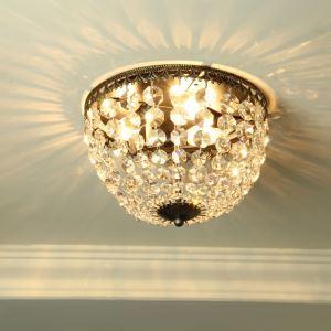シーリングライト 照明器具 天井照明 リビング用 寝室用 クリスタル付 オシャレ照明 田舎風 3灯