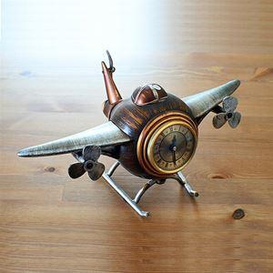 レトロな置き時計 飛行機造形
