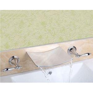 壁付水栓 バス水栓 洗面蛇口 2ハンドル混合栓