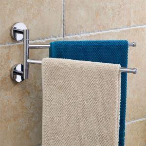 浴室二重タオルバー タオル掛け タオル収納 ハンガー バス用品 真鍮製 クロム