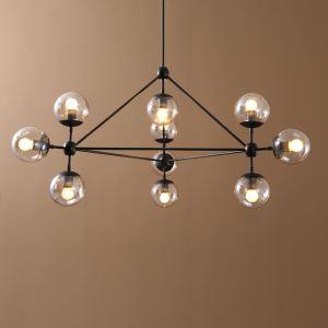 シャンデリア 照明器具 天井照明 店舗照明 リビング 北欧風 アンティーク調 魔豆型 10灯