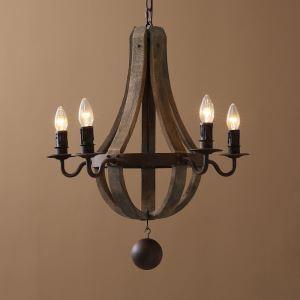 レトロなシャンデリア 照明器具 天井照明 北欧 アンティーク E12-4灯