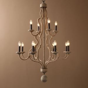レトロなシャンデリア 照明器具 天井照明 北欧 アンティーク E12-12灯