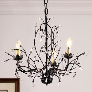 レトロなシャンデリア 照明器具 天井照明 北欧 アンティーク ツリー 3灯