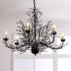 レトロなシャンデリア 照明器具 天井照明 北欧 アンティーク ツリー 6灯