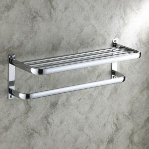 浴室タオルラック タオル掛け タオル収納 壁掛けハンガー バスアクセサリー クロム EB2W2001