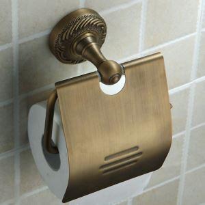 トイレットペーパーホルダー バスアクセサリー 真鍮製 ブラス色