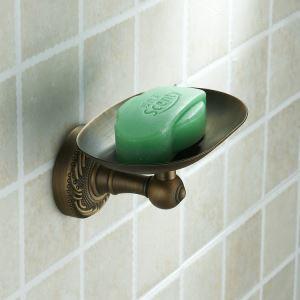 浴室ソープディッシュホルダー 石鹸ホルダー ブロンズメッキ加工