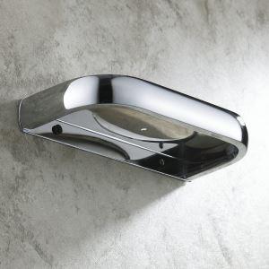 浴室ソープディッシュホルダー 石鹸ホルダー 真鍮製 クロム